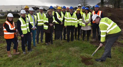 Turning Sod on new development of