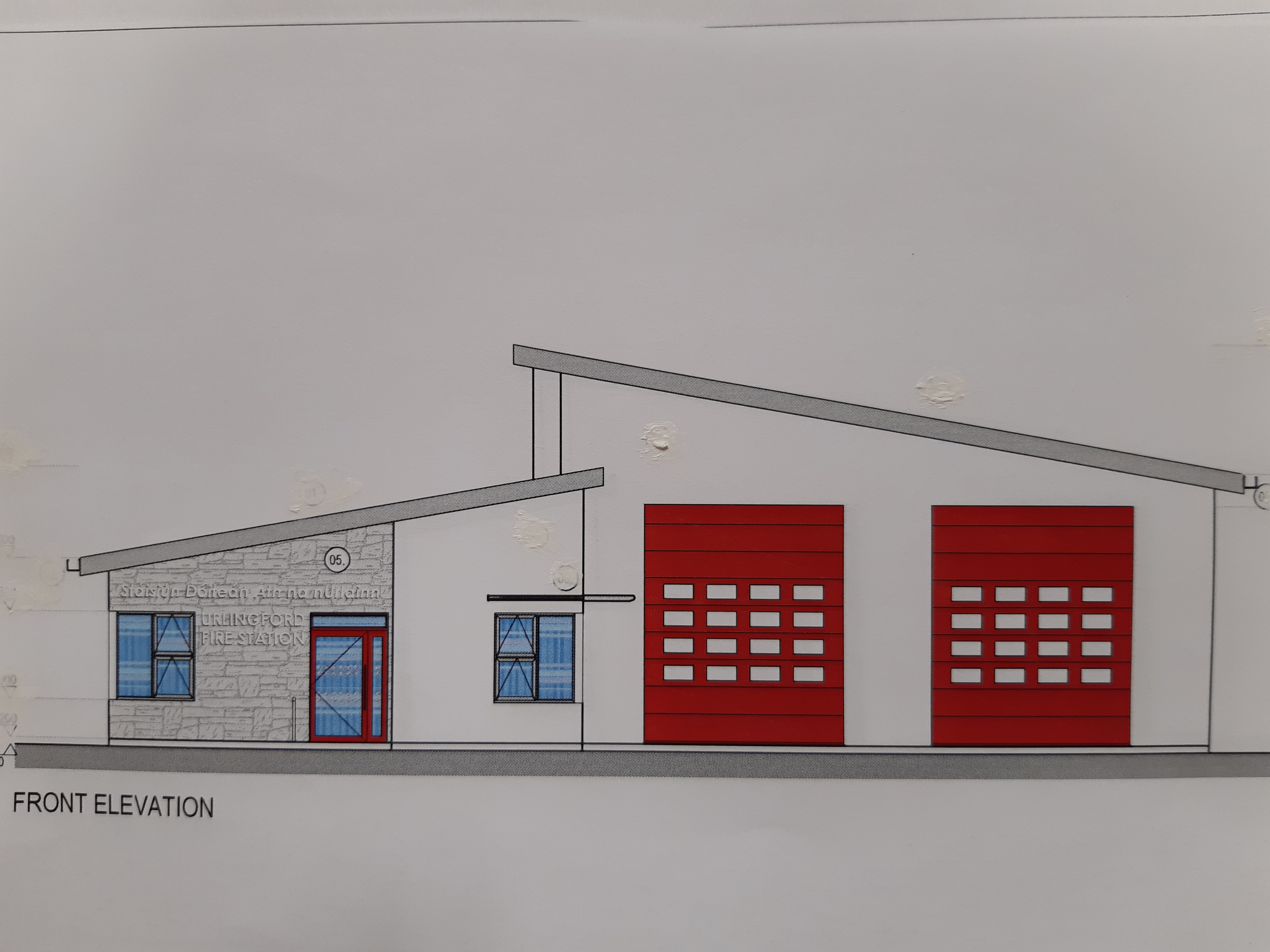 Drawing Urlingford Fire Station
