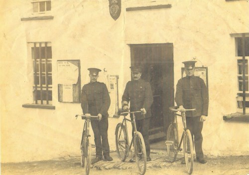Hugginstown RIC, outside the Barracks in the years prior to 1920